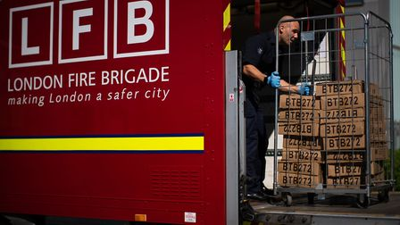 London Fire Brigade delivered 75,000 aprons to Redbridge on Tuesday. Picture: Aaron Chown/PA Wire