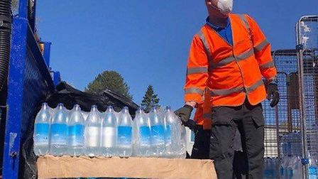 Essex & Suffolk Water has been delivering free bottled water to hospital workers. Picture: Essex & S