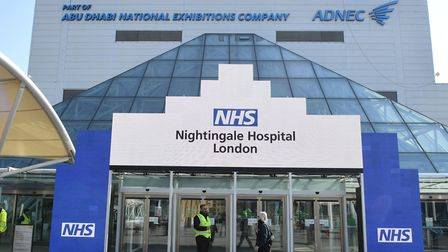 The Nightingale Hospital at the ExCeL. Picture: Stefan Rousseau/PA Wire