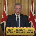 Michael Gove during a media briefing on coronavirus. Picture: PA Video