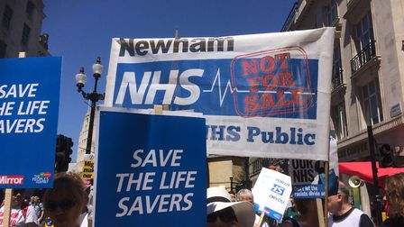 Campaigners repeated their call for an end to charging non-UK nationals for NHS healthcare. Picture: