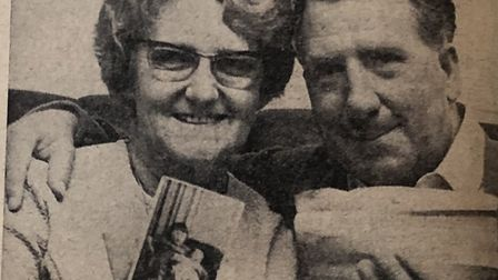 Colin Johnson, pictured with his wife, was reunited with his family after imprisonment in a POW camp