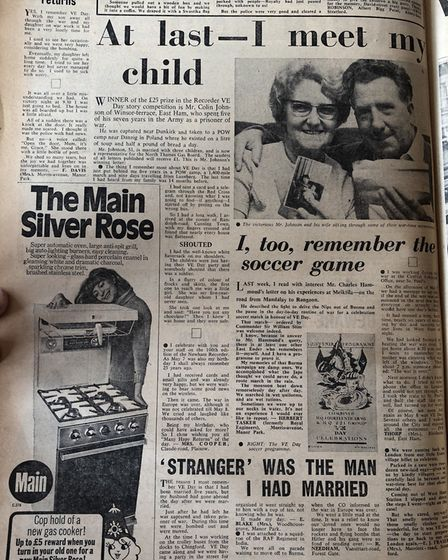 How Colin's story was told back in 1970. Picture: Colin Grainger