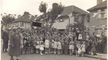 A VE Day celebration in Havering from 1945. Picture: Havering Museum