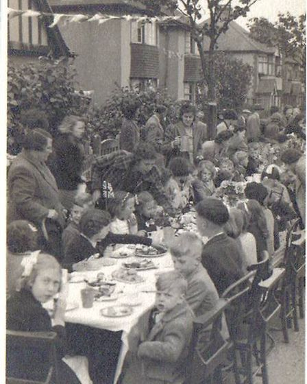 VE Day celebrations going with a swing in 1945. Picture: Havering Museum