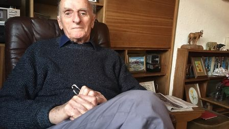 Dennis Goodwin at home in Harold Wood. Picture: Jon King