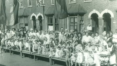 A VE Day party in Baxter Road, Custom House, in 1945. Picture: Newham Archive and Local Studies