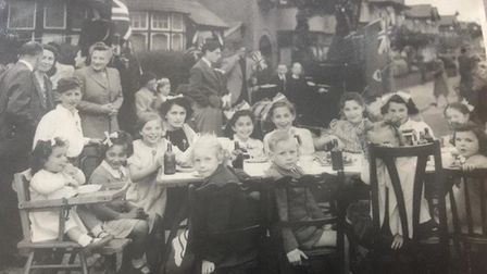 Phyllis Sheridan of Gants Hill was 15 when she attended VE Day celebrations in Willesden. Picture: E