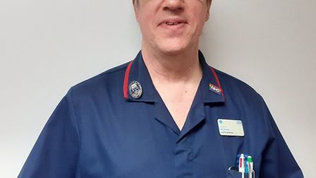Ian Norris, lead stroke nurse at BHRUT retired at the end of April but returned to help fight the Co