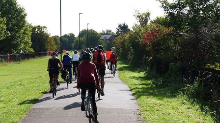 Newham Cyclists members on the Greenway section of a ride to Rainham Marsh. Picture: Newham Cyclists