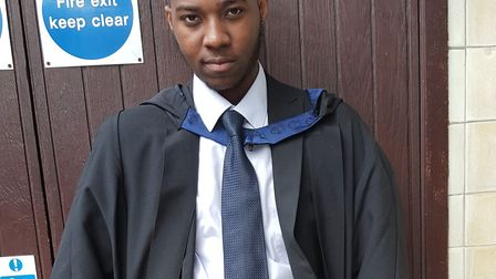 Marketing graduate David Gomoh, 24, was killed on Sunday, April 26. Picture: Met Police