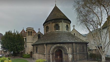 The Round Church, Cambridge. Richard Faulkner was its vicar as well as being vicar of Havering-atte-
