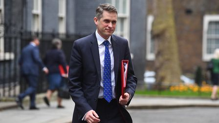 Education secretary Gavin Williamson in Downing Street following a cabinet meeting ahead of the Budg