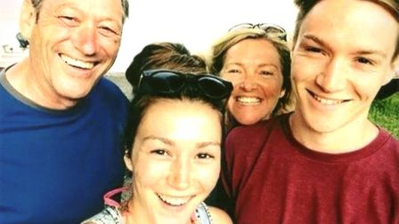 A family photo of Lisa, Pippa, Tom and dad Graham. Picture: Lisa Wilson