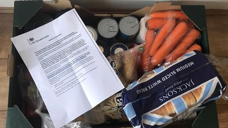 With the delivery company not taking back wrongly-allocated food parcels due to contamination, volun