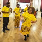 Iroko performing at the Old Town Hall in Stratford during an event to announce the National Lottery