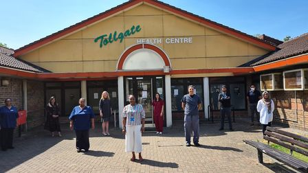 Staff at Tollgate Medical Centre in Beckton. Picture: Syed Ahmed