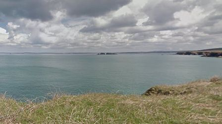 The pair were driving to visit St Brides Bay, on the west coast of Wales. Picture: Google Maps