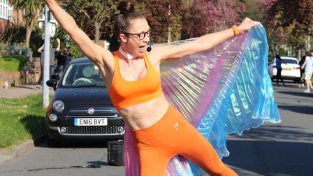 Elyse Blemmings leads twice weekly workouts for her neighbours in Chigwell. Picture: Christopher Joh
