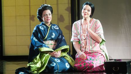 Stephanie Windsor-Lewis (left) is appearing as Suzuki in Madam Butterfly.