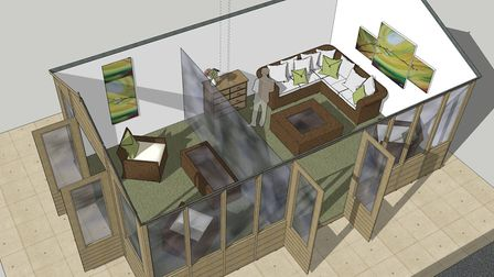 Lambwood Heights care home in Chigwell is creating a summer house to allow for safe visits. Picture: