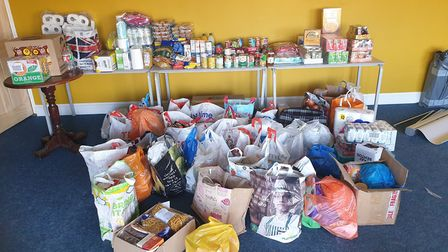 Rainham Cricket Club collected items for local food banks as part of the Alternative Cricket Tea