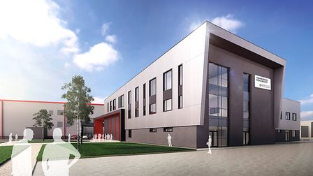 An architect's impression of what the Rainham campus will look like when the project is finished. Pi