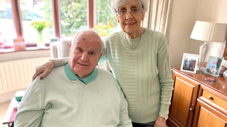 Coronavirus survivor Donald Kingerley, pictured with his wife Ursula, was clapped out of Queen's Hos
