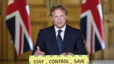 Transport secretary Grant Schapps during a media briefing at Downing Street. Picture: Andrew Parsons