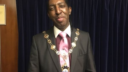 Cllr Michael Deon Burton, whose term as Mayor of Havering ended last week. Picture: April Roach