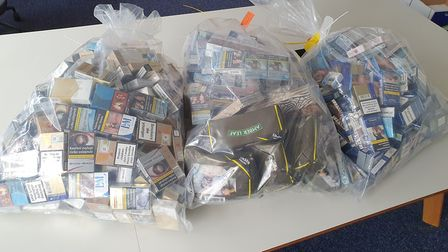 14,000 illegal cigarettes and tobacco products in Ilford Lane (Pic: Redbridge Council)
