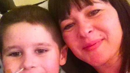 Mitchell and his mum Kristel. Picture: Kristel Huth