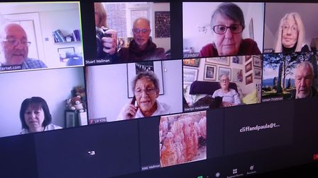 Members of the local U3A committee are having their monthly meeting on Zoom. Picture: Rikki Wallman