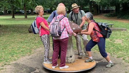 How the members of U3A�s walking groups were rediscovering their youth last summer. Picture: Hugh No