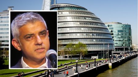 Mayor Sadiq Khan is consulting on plans to move City Hall to Newham. Pictures: Mike Brooke (inset) a