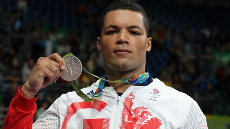 Great Britain's Joe Joyce with his silver medal from the 2016 Olympic super-heavyweight final