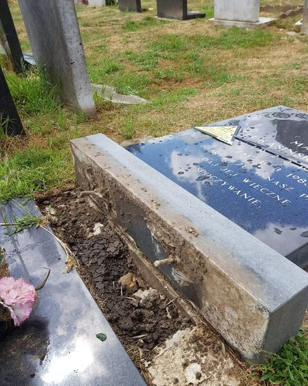 Irena said it was 'poppycock' that the cemetery was using health and safety regulations as an excuse
