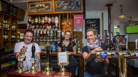 Staff members Lisa Wiles, Lina Masyte and Paula Raudzepa at The Prince of Wales in Ilford which open