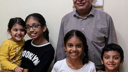 Rohit Patel is finally back home with his four grandkids after three months at King George Hospital