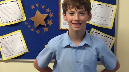 Joel O'Connor, six, was named one of the regional winners. Picture: Engayne Primary School