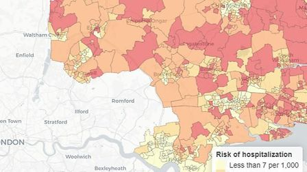 The figures for Essex show it as having more at risk factors than Barking and Dagenham, but fewer th