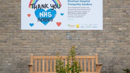 """Eight courtyards and green spaces at Newham Hospital have been refurbished and transformed into """"tra"""