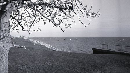 Shoebury's East Beach, pictured in January 1989, months before the ring was discovered. Picture: YA