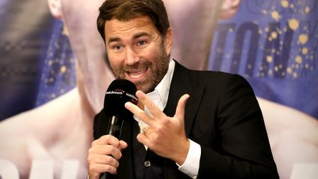 Matchroom Boxing's Eddie Hearn during a press conference