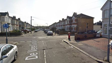 The victim of a stabbing crashed his car over in Belgrave Road, after he was believed to be stabbed
