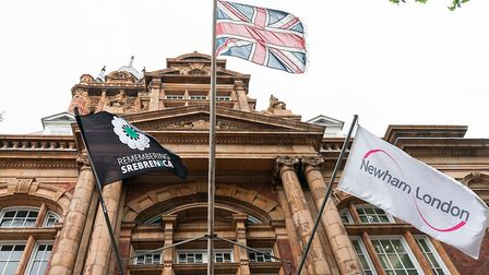 The Remembering Srebrenica flag was flown to mark the 25th anniversary of the genocide. Picture: New