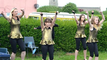 Promoting Pakefield Fete. Totally Wicked Dancers perform. Pictures: MICK HOWES