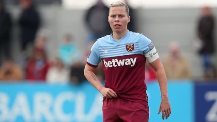 Gilly Flaherty of West Ham during West Ham United Women vs Arsenal Women, Women's FA Cup Football at