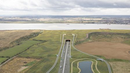 Artist's impression of the Lower Thames Crossing. Picture: Highways England