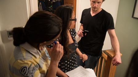 Dr Nidhi Gupta (centre) on the set of her Film London funded short Suburban Dracula. Picture: Lloyd